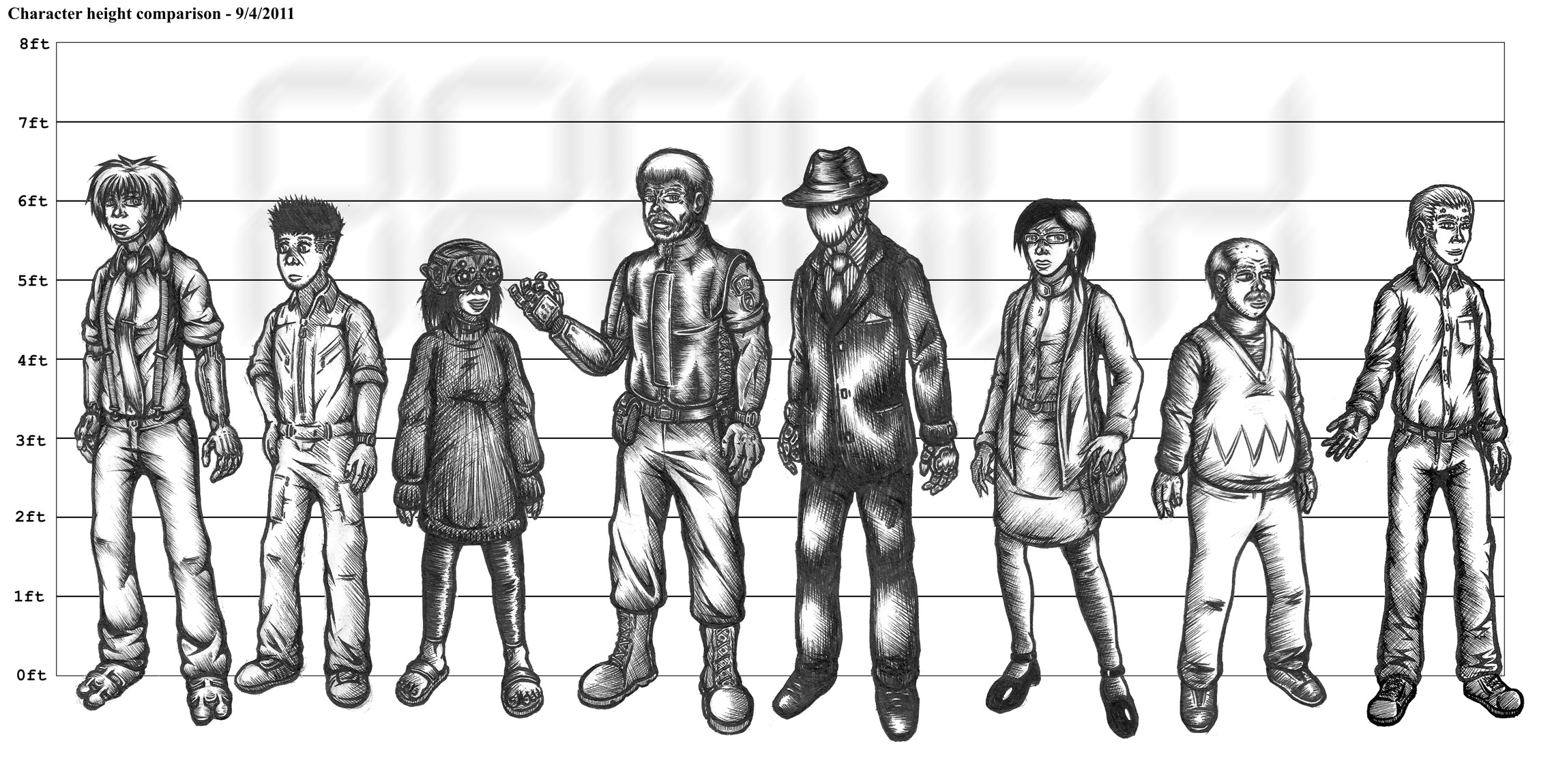 Character Design Lineup : Character line up growing branch